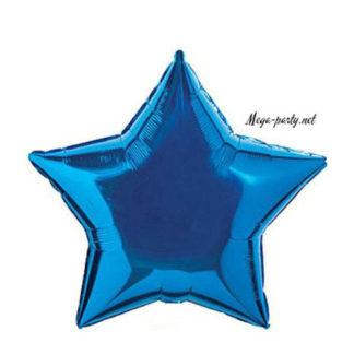 шарик звезда синяя