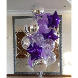 фиолетовый конфетти