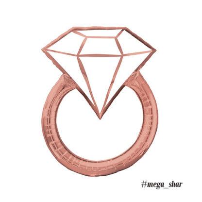 кольцо розовое золото