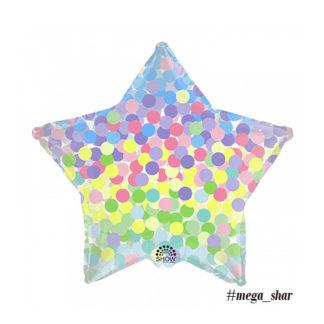 шар звезда конфетти