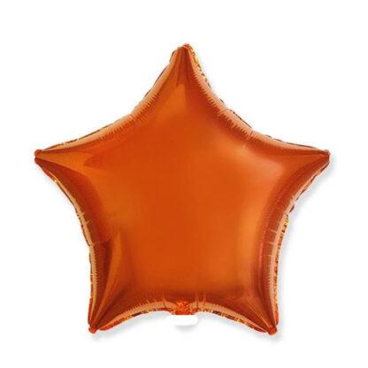 шар звезда оранжевая