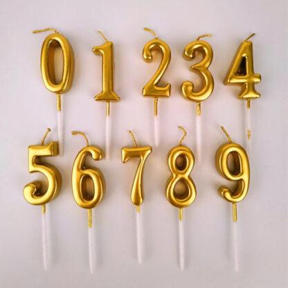 свечи цифры