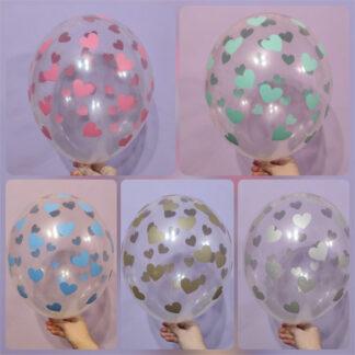 прозрачные шарики с сердечками